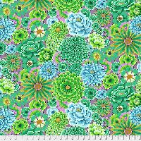 Kaffe Fassett Enchanted Green GP172 - GREEN